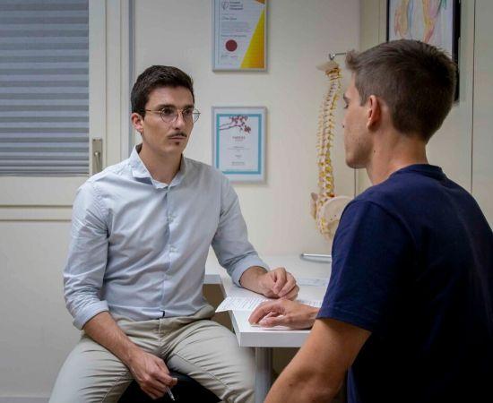 Entrevista quiropráctica