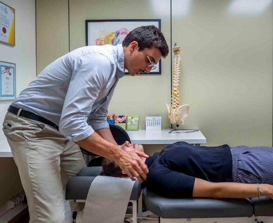 examen quiropractico cuello