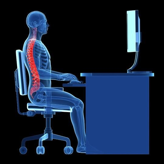 correcta postura delante el ordenador